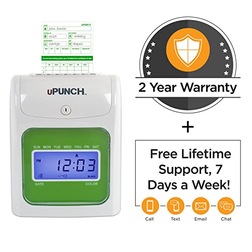 Buy uPunch Starter Time Clock Bundle with 100-Cards, 1 Time