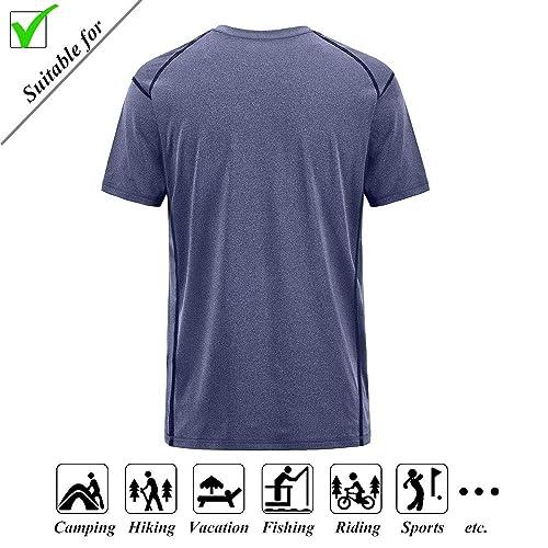 Buy CLAKCO Mens T Shirts,Short Sleeve Tee,Fashion Stretch Sports