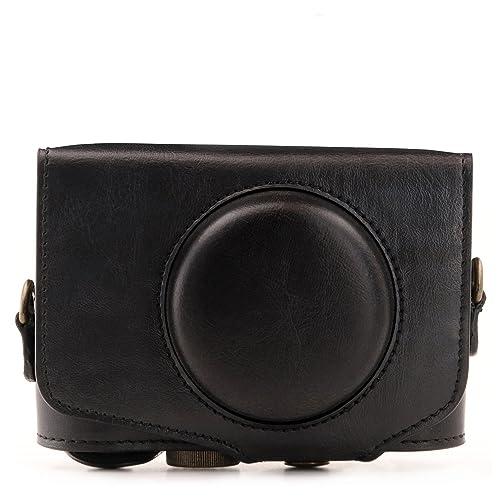 Negro PU learther cámara caso para CANON PowerShot SX620 SX740 SX730 HS