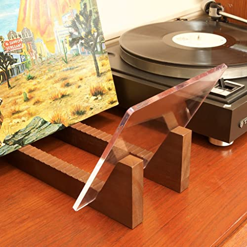 7 or 12 inch Stacks up to 50 Albums KAIU Vinyl Record Storage Holder Patent Pending FBA/_KVRS-01-16 Solid Wood Stand with Clear Acrylic Ends Display Your Singles and LPs in This Modern Portable Rack Unit