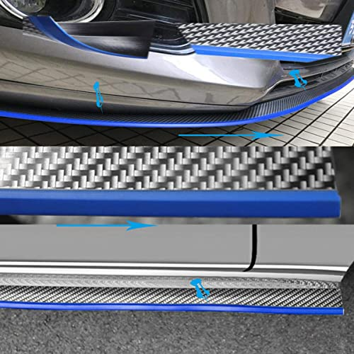 2.5m,Blue ByLucky Front Bumper Lip Spoiler,100/% Waterproof and Durable Special Universal Rubber Carbon Fiber Bumper Front Lip;Suitable for Side Skirt Lip Separator