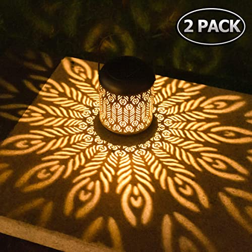 Martiount Solar Lanterns Lights Outdoor Waterproof with Flickering Flame Effect LED Hanging Decoration Lamp for Garden Room Patio Yard Christmas Party Camping