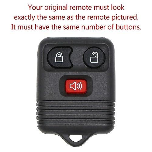 KeylessOption Keyless Entry Remote Fob Car Key for Ford Explorer CWTWB1U322 F-150 Expedition CWTWB1U212 Ranger Navigator CWTWB1U345 CWTWB1U331