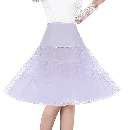 GRACE KARIN Womens 50s Petticoats Skirts Wedding Half Slips Long Underskirt
