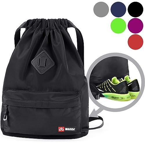 Large String Drawstring Backpack Cinch Sack Gym Bag Tote School Sport Yoga Pack
