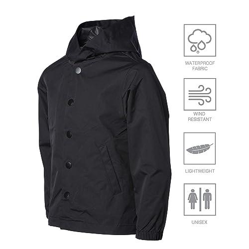 WSLCN Womens Waterproof Long Jacket Outdoor Lightweight Raincoat Windproof Casual Sport Vest Coat