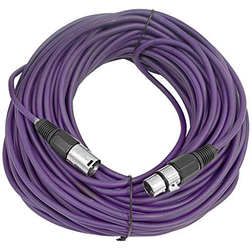 Seismic Audio 100/' Microphone Cord Mic White 100 Foot XLR Microphone Cable