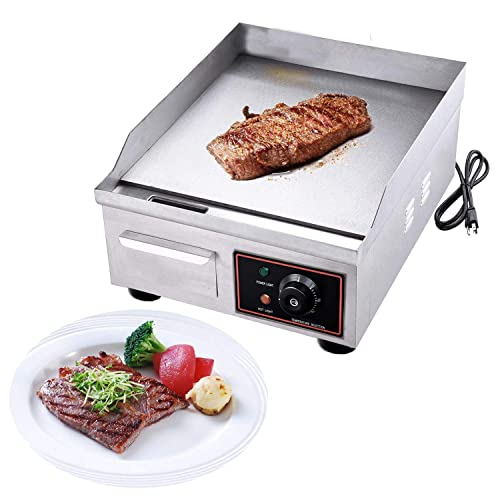 """Electric Griddle Flat Top Grill 1500W 22/"""" Hot Plate BBQ Countertop Home US"""