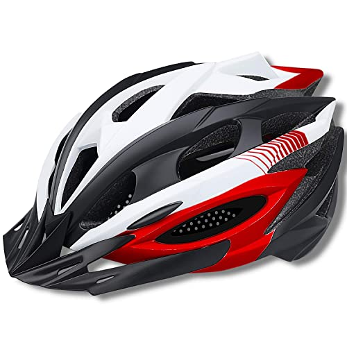 20.87-24 Inches CPSC Certified Road /& Mountain Bicycle Helmet with Magnetic Goggles /& Detachable Visor Adjustable Size for Men//Women SUNRIMOON Adult Bike Helmet with Rechargeable USB Light