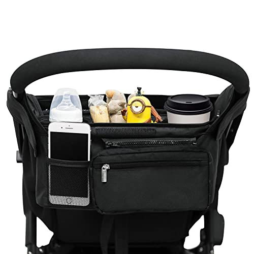 NEW Cup Holder Organizer Bag to fit BRITAX strollers Black Pink Grey Blue Wipes