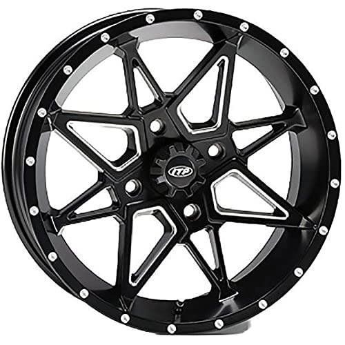 ITP SS ALLOY SS212 Matte Black Wheel with Machined Finish 12x7//4x115mm