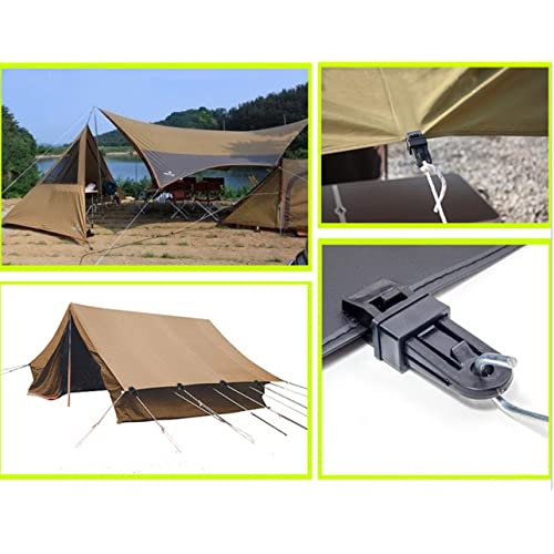 TRIWONDER 12pcs Tarp Clips Crocodile Tent Awning Clamps Set Heavy Duty Lock Grip Instant Clip for Camping Canopy Tarps Caravan