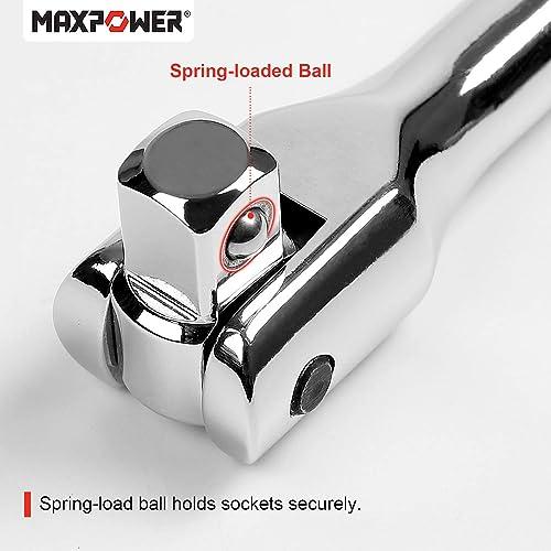 "Neiko 00338A 3//8 Inch Drive Premium Breaker Bar 180 Flex Head 15/"" Length Cr-V Steel"