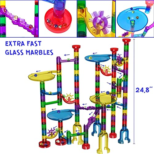 Tomi Toys Marble Run Super Set 25 Glass Marbles 109 Pieces 84 Action Pieces