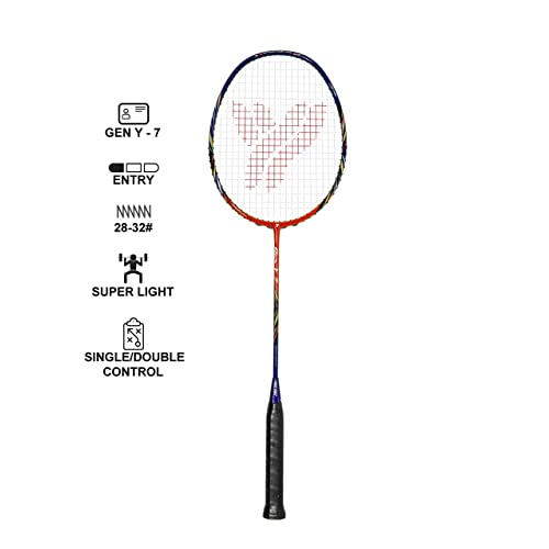 for Both Offensive and Defensive Players Dynamic Shuttle Sports Premium Hyperion KV-100 Carbon Fiber Indoor//Outdoor Professional Badminton Racket Good for All Levels