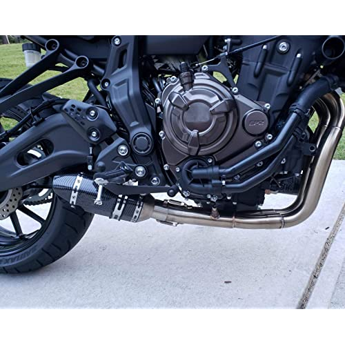 Cuque Motorcycle Rear Pipe 51mm 2 Inch Motorbike Outlets Exhaust Muffler Tailpipe with Stainless Steel Fit for Z650 Z800 Z900 Z1000 Ninja 300 400 650 ZX-6R ZX-10R Yamaha MT-03 MT-07 R1 R3 Chrome