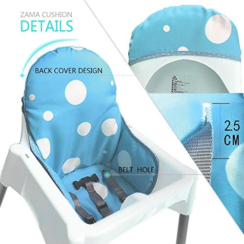 Blue Universal Baby Highchair Insert Mat Washable Foldable Hothuimin Highchair Seat Cover Cushion Liner Pad Cover