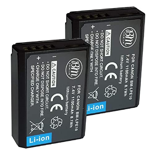 2-Pack Battery /&Dual Charger T100 T6 4000D /&More LP LP-E10 Battery Charger Set Compatible with Canon T3 T7 T5 Not for T3i T5i T6i T6s T7i