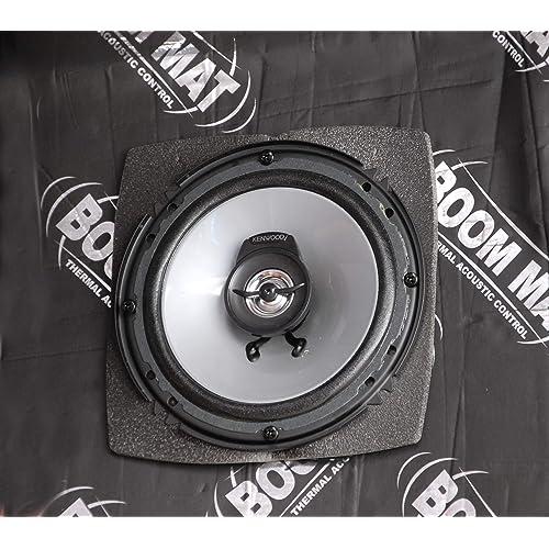 "6/"" x 9/"" Oval Design Engineering 050380 Boom Mat Speaker Baffles Pack of 2"