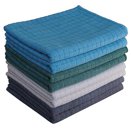 Buy Gryeer Assorted Color Microfiber Dish Towels - 8 Pack (2 ...