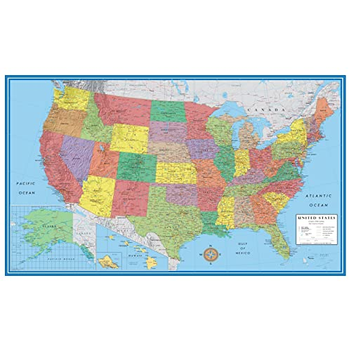 Buy 24x36 United States, USA Classic Elite Wall Map Mural ...