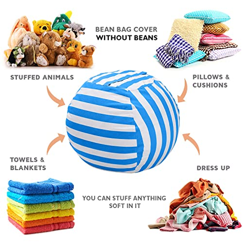 Swell Buy Wekapo Stuffed Animal Storage Bean Bag Chair For Kids Camellatalisay Diy Chair Ideas Camellatalisaycom