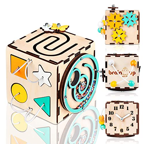Activity Cube Montessori Toy Buckle Toy Busy Cube Activity Board Toddler Toys Puzzle Toy Travel Toy for Toddlers Busy Board Set of 3 Educational Toy For Babies Sensory Toy