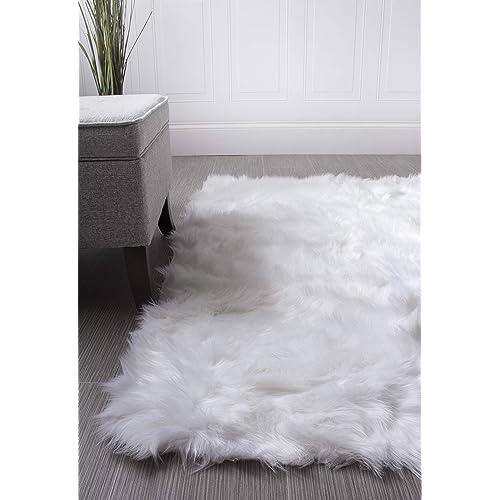 Faux Fur Sheepskin Shag Silky Rug Baby