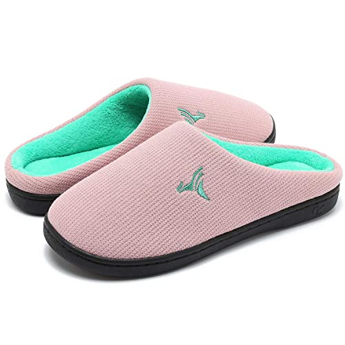 Slip On Breathable House Shoes with Indoor Outdoor Anti-Skid Rubber Sole ZIZOR Mens Two-Tone Open Toe Slippers with Comfy Memory Foam