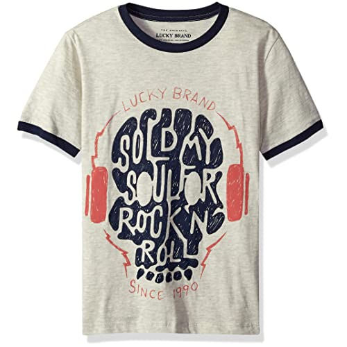 Lucky Brand Big Boys Short Sleeve Rock N Roll Tee Shirt