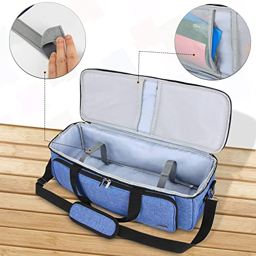 Blue Luxja Carrying Bag Compatible with Cricut Explore Air and Maker Bag Only, Patent Pending Tote Bag Compatible with Cricut Explore Air and Supplies
