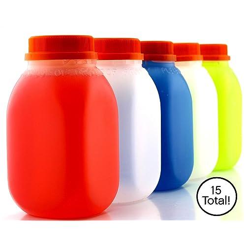 0967c7594cb8 Buy 8-Ounce Plastic Milk Bottles (15-Pack); HDPE Bottles Great for ...