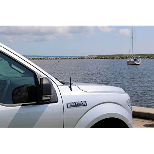 1999-2016 AntennaMastsRus 13 All-Terrain Flexible Rubber Antenna is Compatible with Ford F-550 Super Duty - Spring Steel Internal CORE