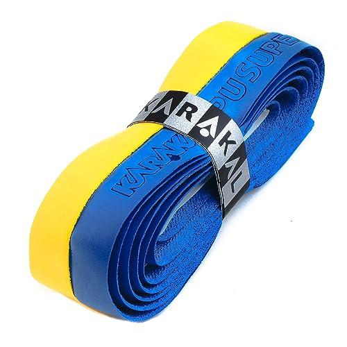 Karakal PU Supergrip Replacement Racquet Grip squash tennis Yellow, 6 x Grips badminton