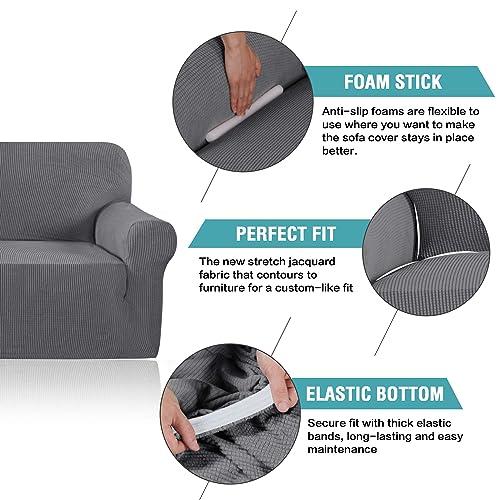 Stylish Lycra Jacquard Sofa Cover For Living Room High Stretch