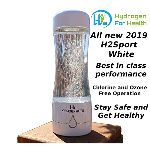 H2 Sport White Hydrogen Generator Water Bottle with PEM Dual Chamber  Technology  New for 2019