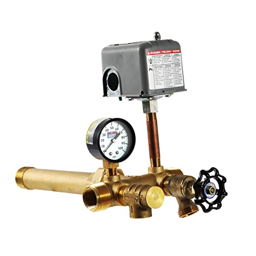"PRESSURE TANK TEE 1 1//4/"" x 14/""  UNION BRASS NO LEAD WATER WELL PRESSURE 1.25/"""