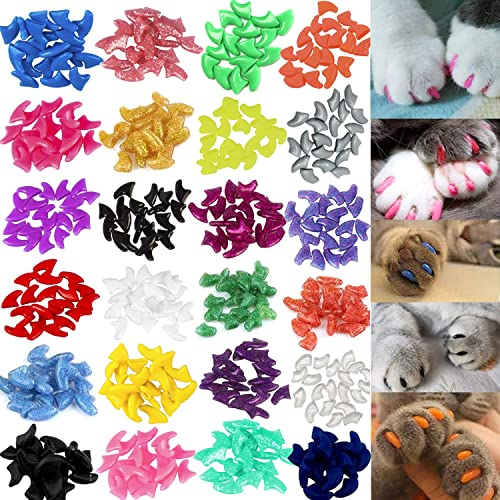 Colorful Pet Cat Soft Claws Nail