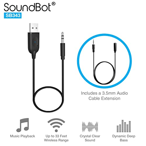 Car Bluetooth Adapter Goojodoq Mini Bluetooth 5.0 Car Receiver with Dual 3.1A USB Ports Car Charger and AUX Audio 3.5mm Jacks for Car Speaker Home Stereo Music Streaming Transmitter