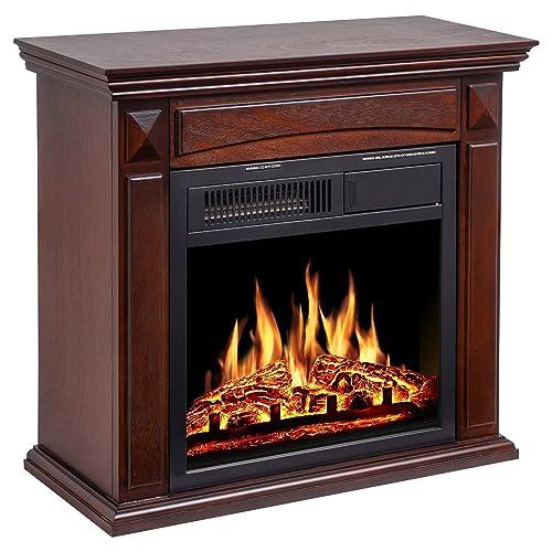 Jamfly 26 Mantel Electric, Quartz Electric Fireplace