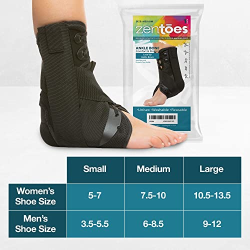 and Children. Women Injuries and Recovery Adjustable Ankle Support for Men Lace Up Ankle Brace for Sprains Sports DOC-Stoppers Ankle Brace