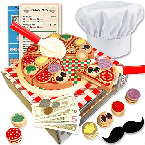 Wooden Pizza Toy For Kids Play