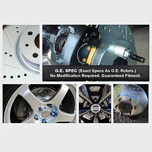 BLACK HART DRILLED SLOTTED BRAKE ROTORS AND CERAMIC PAD BHCR.66080.02 REAR KIT