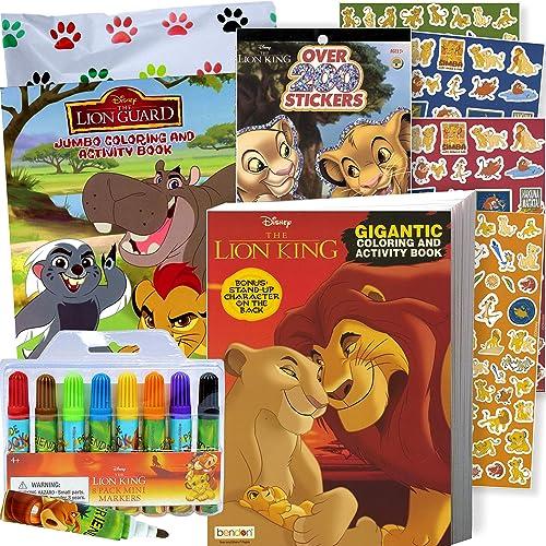 2 Lion Guard Books 2 Safari Sticker Sheets Lion King Lion Guard Coloring Book Super Set