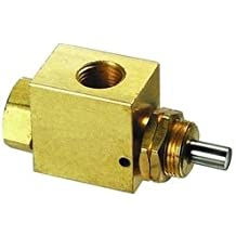 Clippard SMAV-3 3-Way Subminiature Normally-Open or Normally-Closed Stem Valve 4 Colors of Snap-On Push Buttons Included with Each Valve