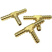 """Brass Barbed /""""Y/"""" Splitter Joiner Connector Pipe Fitting Air Fuel PTNIKH"""