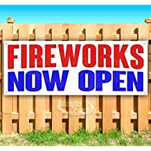 Many Sizes Available Store Fireworks BOGO Free 13 oz Heavy Duty Vinyl Banner Sign with Metal Grommets Flag, New Advertising