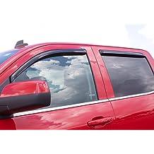 Lightronic WV94109 Tape-on Window Visors Rain Guards Smoke Tint 4PCS Set Fit for 2010-2019 Dodge 1500 Crew Cab 2019 Ram 1500 Classic Crew Cab 2010-2019 Ram 2500//3500 Crew /& Mega Cab