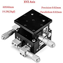 MPositioning T125XY-50R Precision XY Linear Translation Stage 50 mm Travel in 2-Axis 125 x 125 mm Platform Table