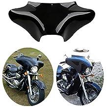 OEM Part No. 58236-96 XMT-MOTO Vivid Black Front Batwing Upper Outer Fairing For Harley Touring Models 1996-2013
